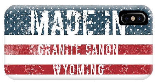 Granite iPhone Case - Made In Granite Canon, Wyoming by Tinto Designs