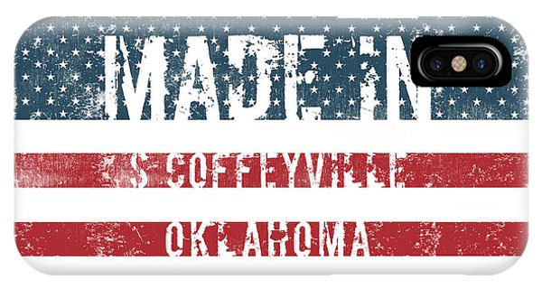 Ok iPhone Case - Made In S Coffeyville, Oklahoma by Tinto Designs