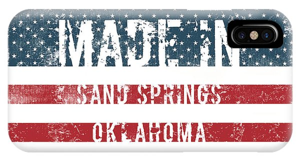 Ok iPhone Case - Made In Sand Springs, Oklahoma by Tinto Designs