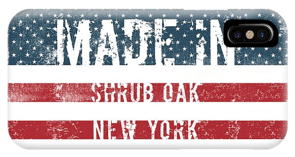 Shrub iPhone Case - Made In Shrub Oak, New York by Tinto Designs