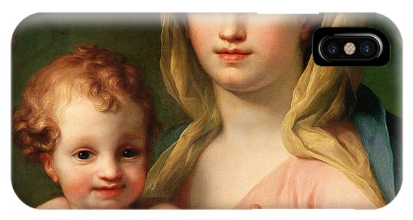 Raphael iPhone Case - Madonna And Child by Anton Raphael Mengs