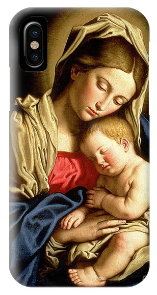 Christianity iPhone Case - Madonna And Child by Il Sassoferrato