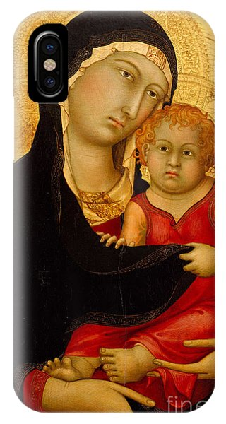 Martini iPhone Case - Madonna And Child by Simone Martini