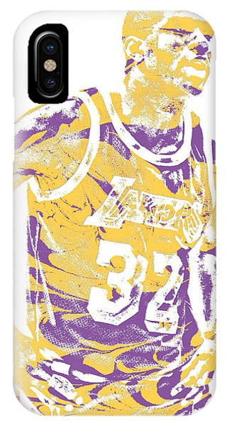 Magic Johnson Los Angeles Lakers Pixel Art 6 IPhone Case