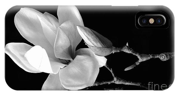 Magnolia In Monochrome IPhone Case