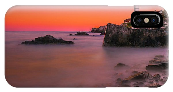 IPhone Case featuring the photograph Maine Portland Headlight Lighthouse At Sunset by Ranjay Mitra