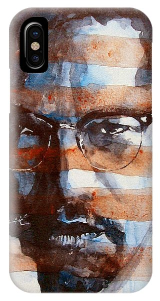 Rights iPhone Case - Malcolmx by Paul Lovering