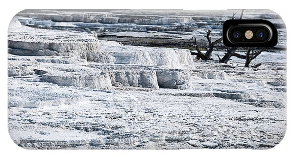 Mammoth Hot Springs iPhone Case - Mammoth Terraces by Delphimages Photo Creations