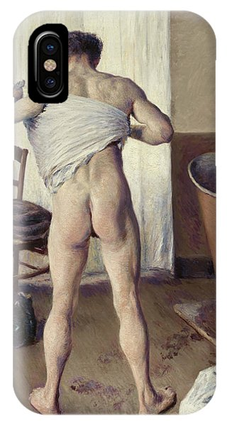 French Painter iPhone Case - Man At His Bath by Gustave Caillebotte