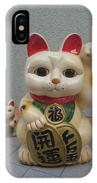 A Figure Of A Beckoning Cat, Called 'manekineko' IPhone Case