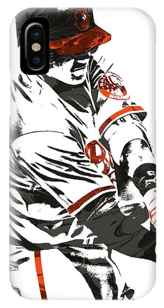 Manny Machado Baltimore Orioles Pixel Art IPhone Case