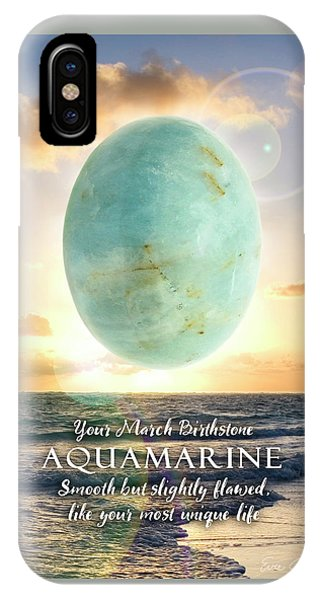 March Birthstone Aquamarine IPhone Case