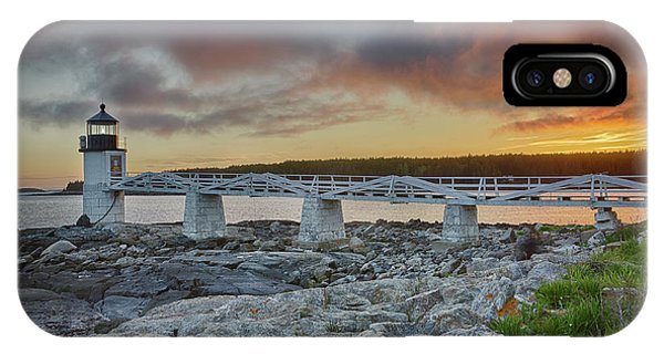 Marshall Point Lighthouse At Sunset, Maine, Usa IPhone Case