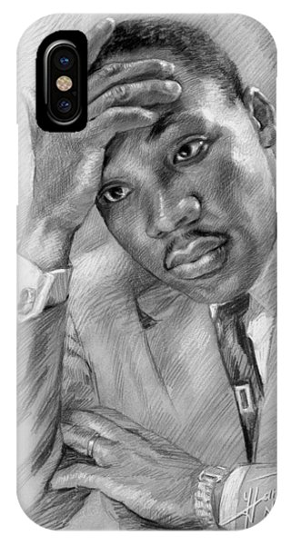 King iPhone Case - Martin Luther King Jr by Ylli Haruni