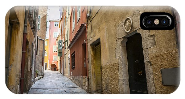 French Riviera iPhone Case - Medieval Street In Villefranche-sur-mer by Elena Elisseeva
