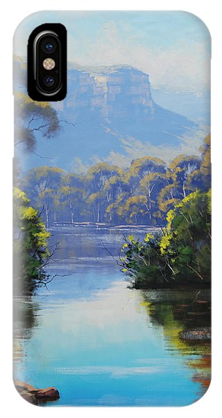 Creek iPhone Case - Megalong Creek by Graham Gercken