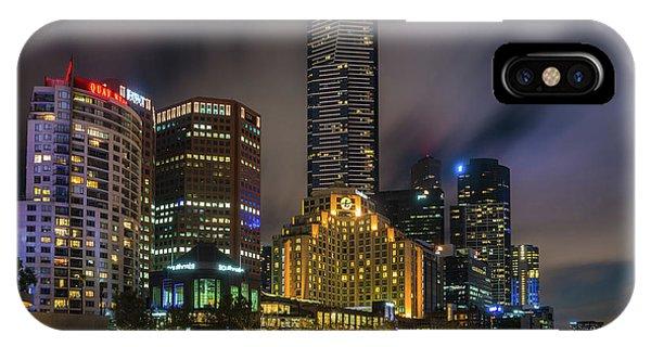 Melbourne City Skyline Over Yarra River  IPhone Case