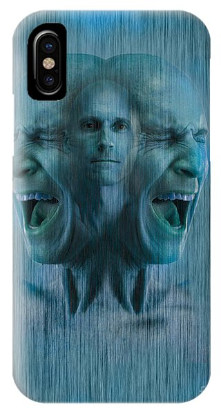 Anguish iPhone Case - Mental Illness by George Mattei