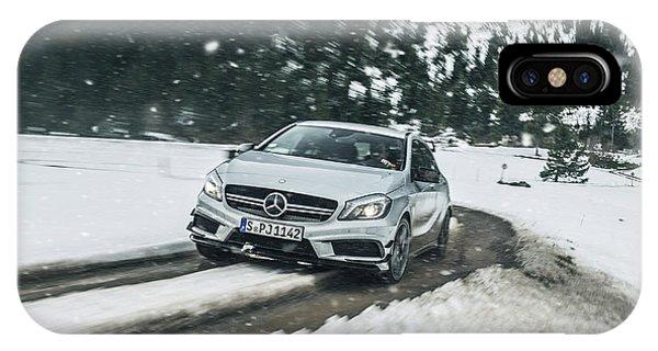 Mercedes Benz A45 Amg Snow IPhone Case