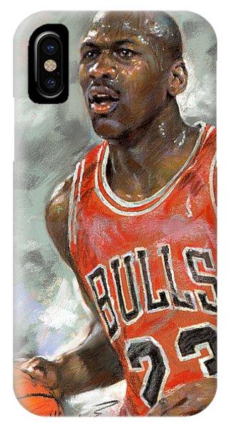 Basketball iPhone Case - Michael Jordan by Ylli Haruni