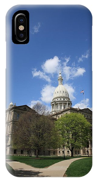Michigan capitol iphone cases fine art america michigan capitol iphone case michigan state capitol building by frank romeo malvernweather Images