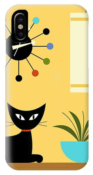 Mid Century Ball Clock 3 IPhone Case