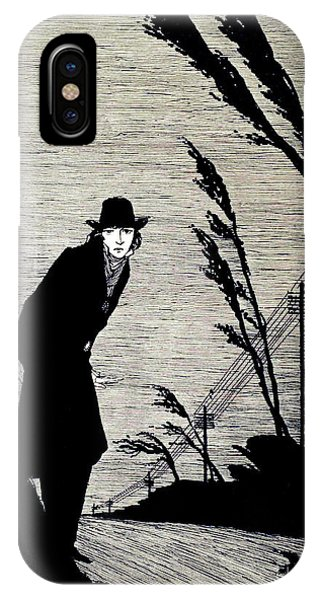 Raven iPhone Case - Midst Of All Was A Cold White Face by Harry Clarke