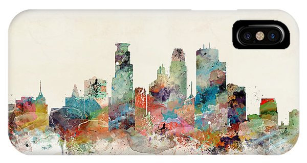 Minnesota iPhone Case - Minneapolis Minnesota Skyline by Bri Buckley