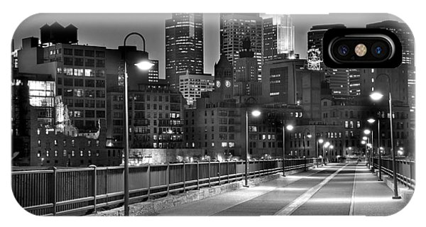 Skyscraper iPhone Case - Minneapolis Skyline From Stone Arch Bridge by Jon Holiday