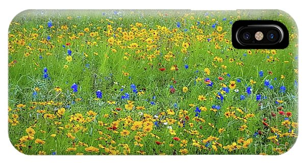 Mixed Wildflowers In Texas 538 IPhone Case