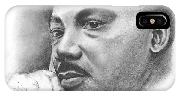 Leader iPhone Case - MLK by Greg Joens