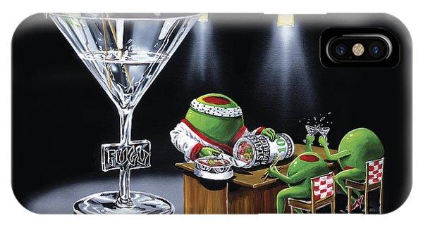 Martini iPhone Case - Money Roll by Michael Godard