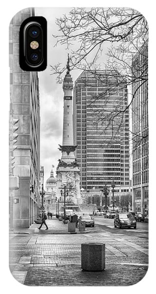 IPhone Case featuring the photograph Monument Circle by Howard Salmon