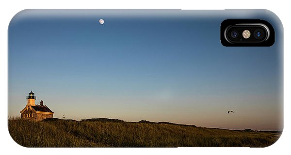 Scenic New England iPhone Case - Moon Over The North Light by Diane Diederich