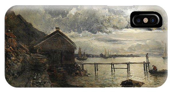 Swedish Painters iPhone Case - Moonlight, Fjallbacka by Alfred Wahlberg