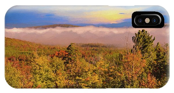 Morning Autumn Landscape Northern New Hampshire IPhone Case