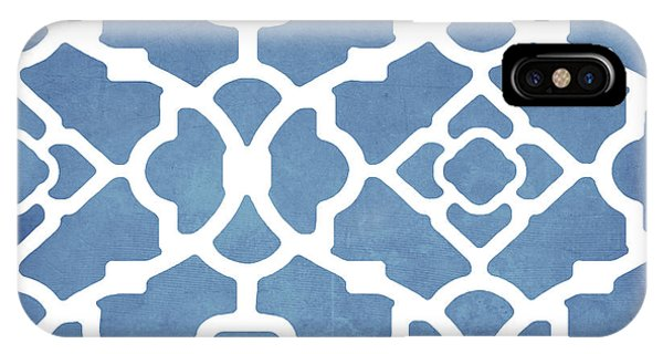 Repeat iPhone Case - Moroccan Blues by Mindy Sommers