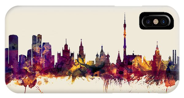 Moscow Russia Skyline IPhone Case