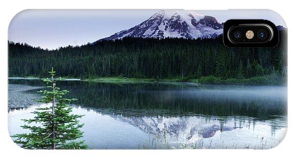 Mount Rainier Reflections IPhone Case