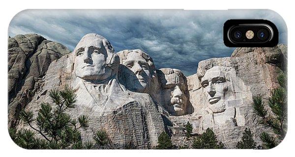 George Washington iPhone Case - Mount Rushmore II by Tom Mc Nemar