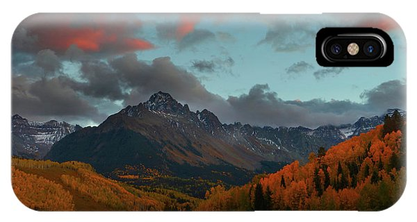 Mount Sneffels Sunset During Autumn In Colorado IPhone Case
