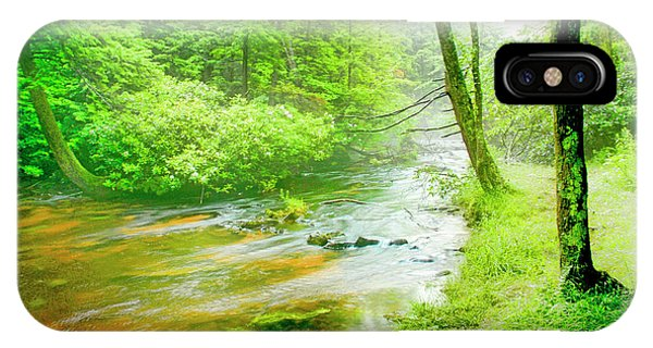 Mountain Stream, Pocono Mountains, Pennsylvania IPhone Case