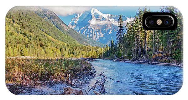 IPhone Case featuring the photograph Mt. Robson 2009 02 by Jim Dollar