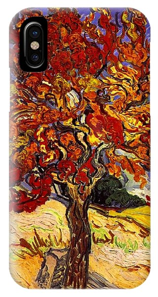 IPhone Case featuring the painting Mulberry Tree by Van Gogh