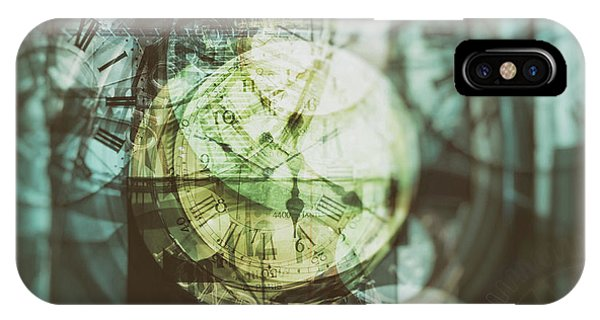 IPhone Case featuring the photograph Multi Exposure Clock   by Ariadna De Raadt
