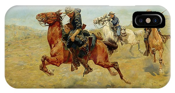 Shooting iPhone Case - My Bunkie, 1899 by Charles Schreyvogel