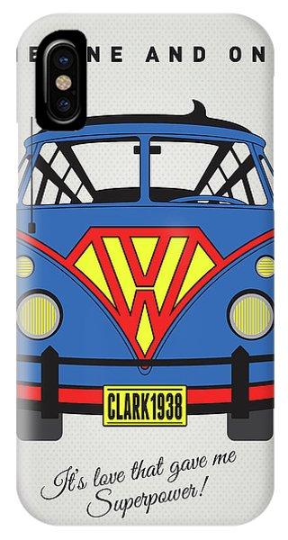 Fantastic iPhone Case - My Superhero-vw-t1-superman by Chungkong Art