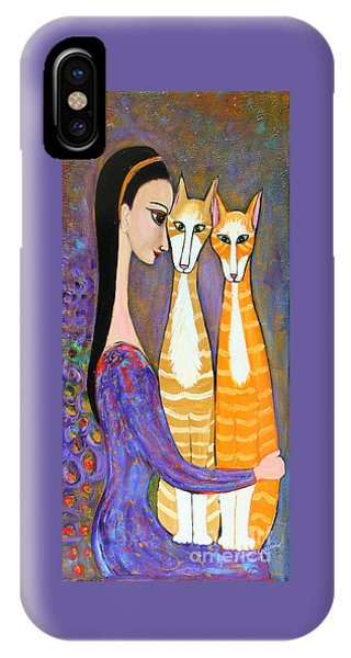 My Two Cats IPhone Case