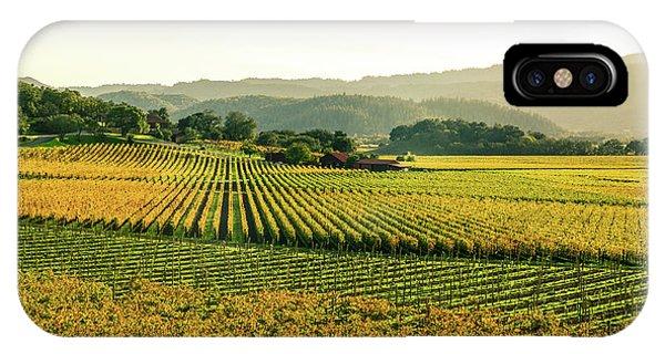 Napa Valley California In Autumn IPhone Case
