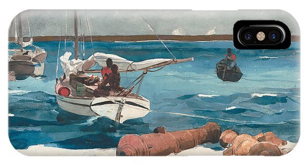 Bahamas iPhone Case - Nassau, 1899 by Winslow Homer